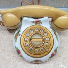 Antigüedades: TELEFONO DE SOBREMESA DE 1962 ROYAL ALBERT OLD COUNTRY ROSES BOWL PORCELANA INGLESA. Lote 219237472
