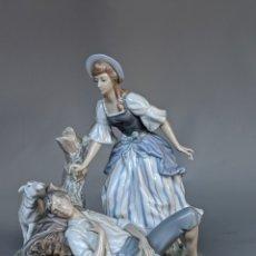 Antigüedades: FIGURA GRUPO ESCULTÓRICO PORCELANA LLADRÓ, SIESTA PASTORAL, PARA RESTAURAR. Lote 219277560
