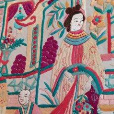 Antigüedades: IMPRESIONANTE MANTÓN DE MANILA ANTIGUO DEL XIX. Lote 219310045