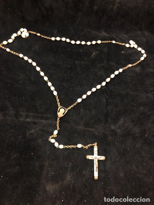 ANTIGUO ROSARIO - MEDIDA 44,5 CM (Antigüedades - Religiosas - Rosarios Antiguos)