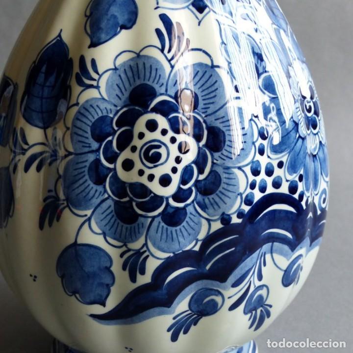 Antigüedades: Florero de porcelana de Delft Holanda. 1960 - 1970 - Foto 2 - 219337028