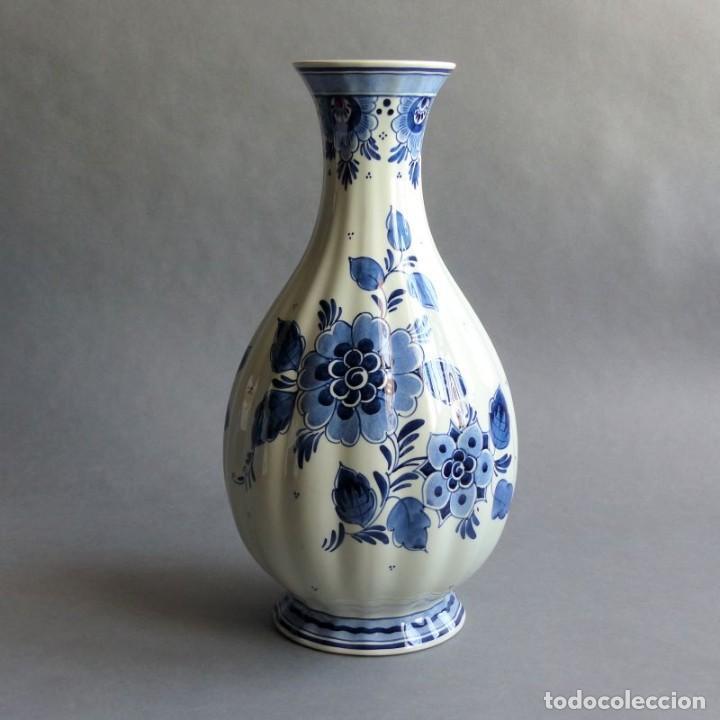 Antigüedades: Florero de porcelana de Delft Holanda. 1960 - 1970 - Foto 3 - 219337028
