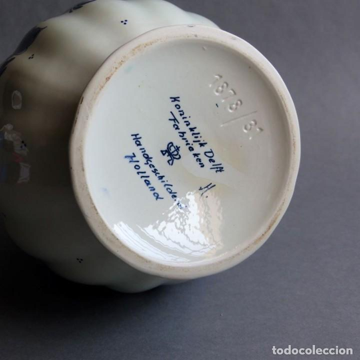 Antigüedades: Florero de porcelana de Delft Holanda. 1960 - 1970 - Foto 4 - 219337028