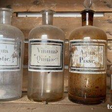 Antigüedades: FRASCOS O TARROS ANTIGUOS DE FARMACIA PARA METER MEDICAMENTOS 25 CMS. DE ALTO EL MAYOR. Lote 219356862