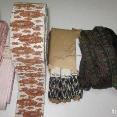 Antigüedades: VARIAS ANTIGUAS CINTAS DISTINTAS TEXTURAS Y MEDIDAS. Lote 219360770