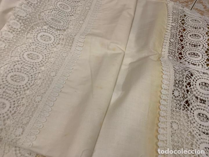 Antigüedades: Preciosa sabana con su funda de almohada. En algodon fino. Impecable. - Foto 2 - 219362796