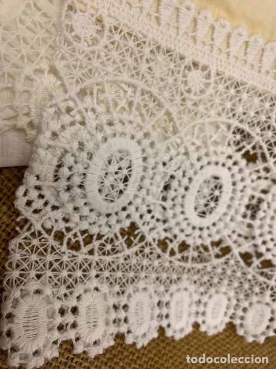Antigüedades: Preciosa sabana con su funda de almohada. En algodon fino. Impecable. - Foto 3 - 219362796