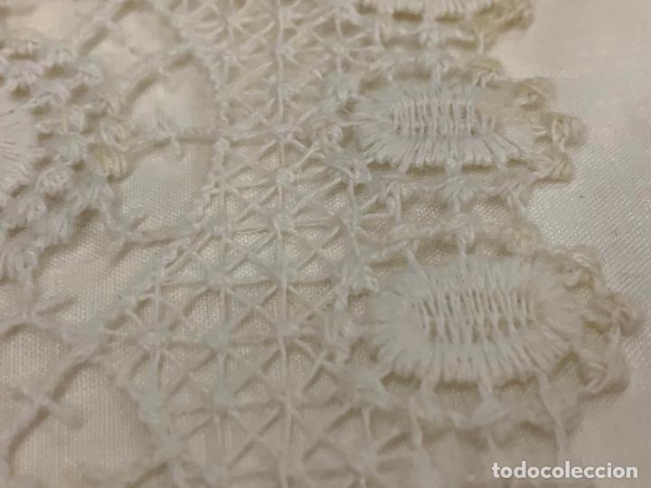 Antigüedades: Preciosa sabana con su funda de almohada. En algodon fino. Impecable. - Foto 4 - 219362796
