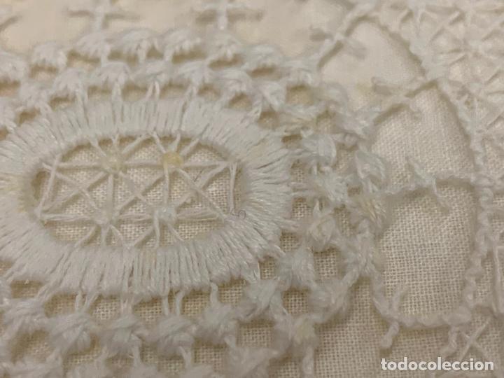 Antigüedades: Preciosa sabana con su funda de almohada. En algodon fino. Impecable. - Foto 5 - 219362796