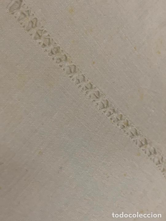Antigüedades: Preciosa sabana antigua de algodon, con una funda de almohada. - Foto 4 - 219365793