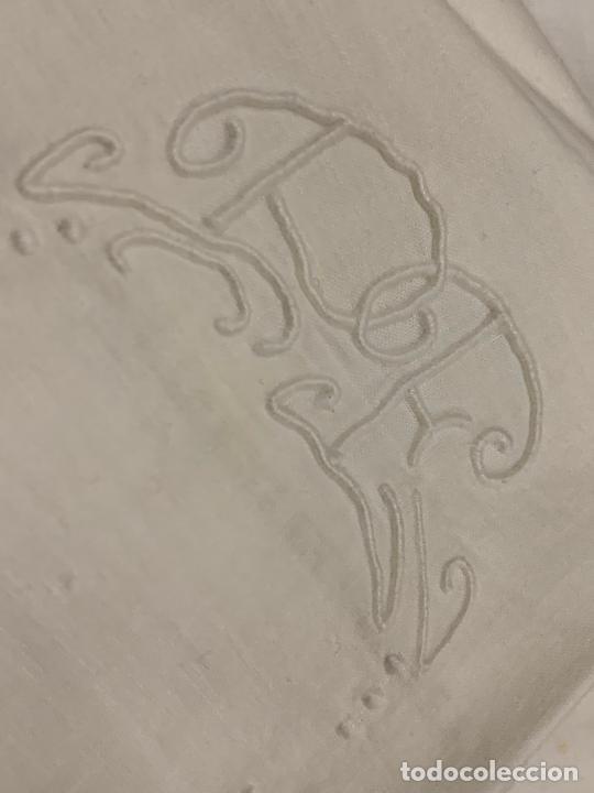 Antigüedades: Preciosa sabana antigua de algodon, con una funda de almohada. - Foto 5 - 219365793