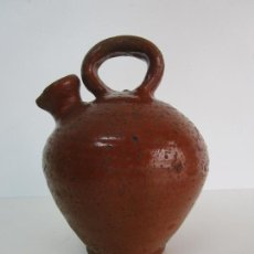 Antigüedades: ANTIGUO BOTIJO, CANTIR DE PIERA (ANOIA) - CÁNTARO PARA ACEITE - CERÁMICA CATALANA - S. XIX. Lote 219374351