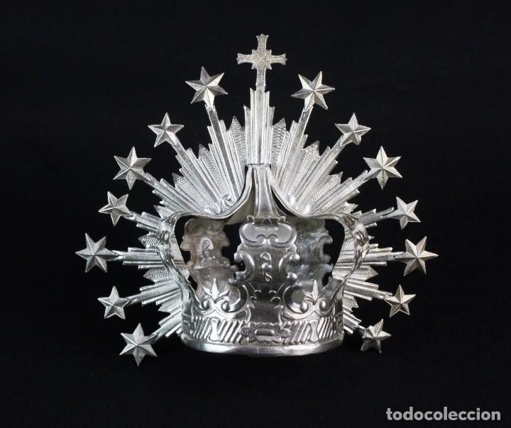 CORONA IMPERIAL PARA IMAGEN. PLATA. MEDIADOS SXX SEVILLA. 40GR. SIN USAR.5 CM DIÁMETRO ARO (Antigüedades - Religiosas - Orfebrería Antigua)