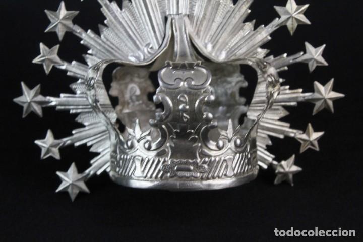 Antigüedades: Corona imperial para imagen. Plata. mediados SXX Sevilla. 40gr. Sin usar.5 cm diámetro aro - Foto 4 - 219381091