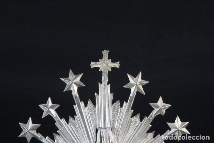 Antigüedades: Corona imperial para imagen. Plata. mediados SXX Sevilla. 40gr. Sin usar.5 cm diámetro aro - Foto 5 - 219381091