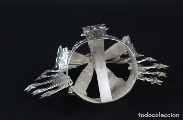 Antigüedades: Corona imperial para imagen. Plata. mediados SXX Sevilla. 40gr. Sin usar.5 cm diámetro aro - Foto 7 - 219381091