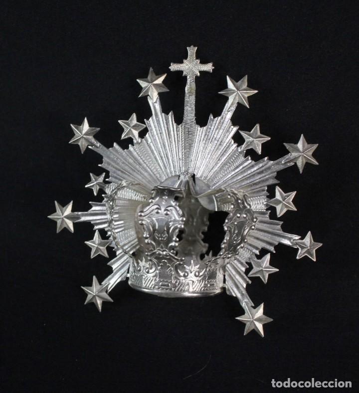 Antigüedades: Corona imperial para imagen. Plata. mediados SXX Sevilla. 33gr. Sin usar. 4.5 cm diámetro aro - Foto 2 - 219381590