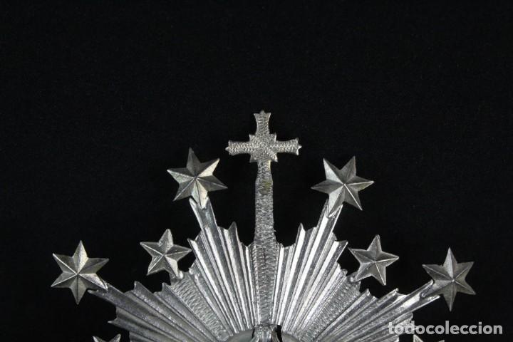 Antigüedades: Corona imperial para imagen. Plata. mediados SXX Sevilla. 33gr. Sin usar. 4.5 cm diámetro aro - Foto 3 - 219381590