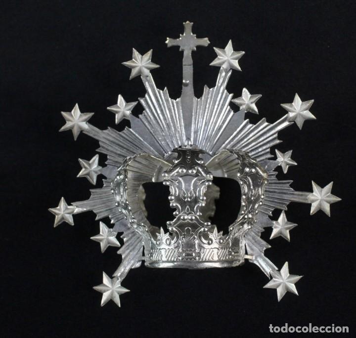 Antigüedades: Corona imperial para imagen. Plata. mediados SXX Sevilla. 33gr. Sin usar. 4.5 cm diámetro aro - Foto 4 - 219381590