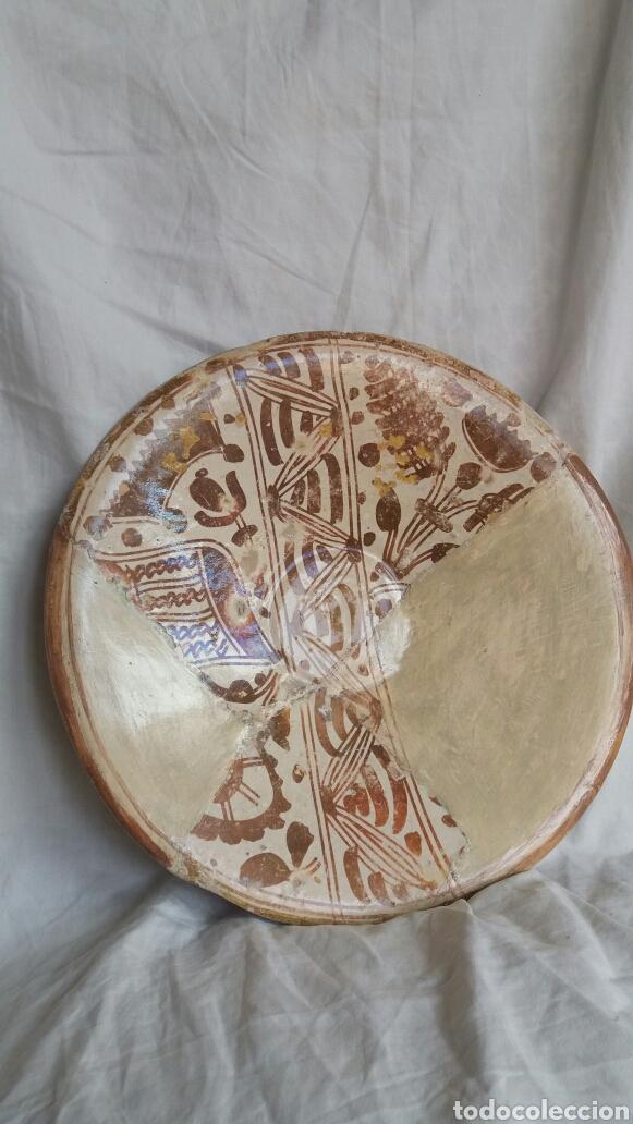 PLATO DE REFLEJO METÁLICO DE MUEL SIGLO XVI (Antigüedades - Porcelanas y Cerámicas - Teruel)