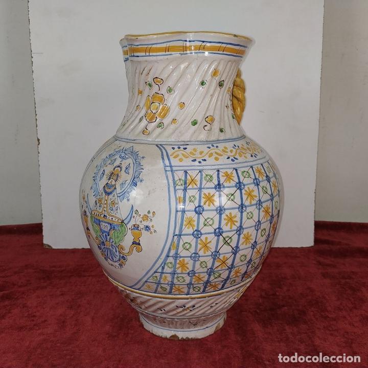 Antigüedades: GRAN JARRA FIRMADA NIVEIRO. CERÁMICA ESMALTADA. TALAVERA. ESPAÑA. SIGLO XX - Foto 3 - 219397761