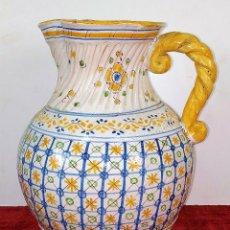 Antigüedades: GRAN JARRA FIRMADA NIVEIRO. CERÁMICA ESMALTADA. TALAVERA. ESPAÑA. SIGLO XX. Lote 219397761