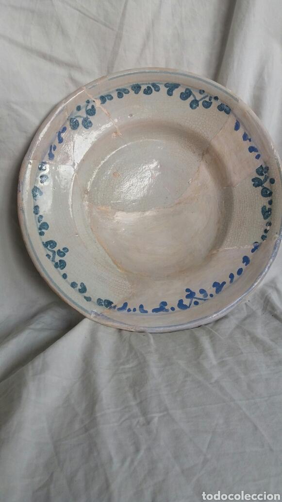 PLATO ARAGONÉS DEL SIGLO XVIII (Antigüedades - Porcelanas y Cerámicas - Teruel)