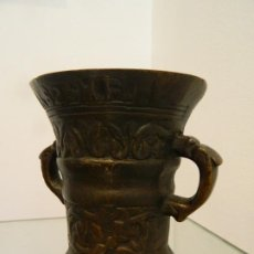 Antigüedades: PEQUEÑO MORTERO, ALMIREZ, DE FARMACIA, FECHADO 1600. Lote 219404453