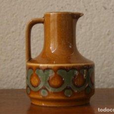 Antigüedades: JARRA DE CERAMICA EN MINITURA SELLO MARCA GRABADO EN LA BASE HORNSEA ENGLAND BRONTE. Lote 219412408