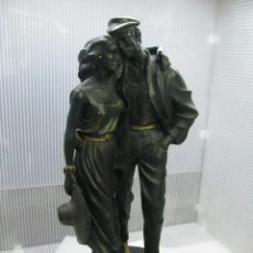 Antigüedades: FIGURA DE EPOCA DORADA PAREJA DE ENAMORADOS. Lote 219412538