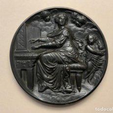 Antigüedades: MEDALLÓN RELIGIOSO BAQUELITA (S.XIX). Lote 219438987