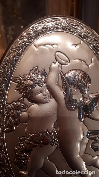 Antigüedades: Dios Baco. Medallón de plata. - Foto 2 - 219442610
