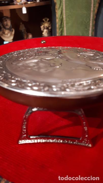 Antigüedades: Dios Baco. Medallón de plata. - Foto 4 - 219442610