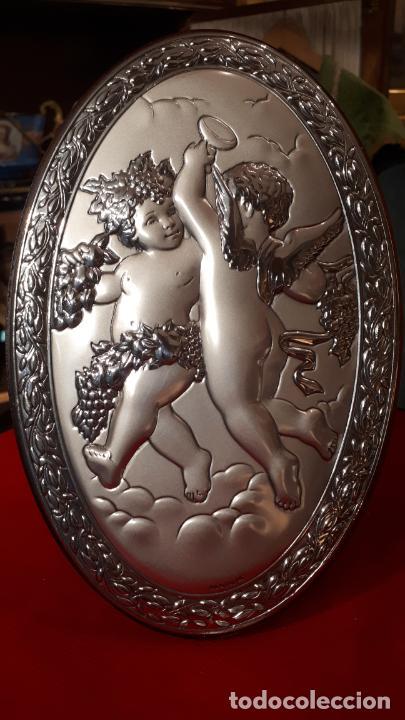 Antigüedades: Dios Baco. Medallón de plata. - Foto 5 - 219442610
