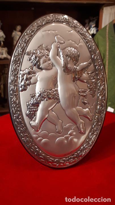 Antigüedades: Dios Baco. Medallón de plata. - Foto 10 - 219442610