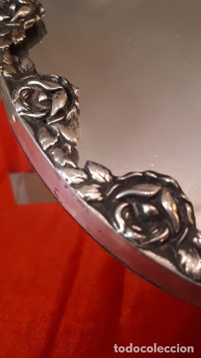 Antigüedades: Espejo de plata. - Foto 3 - 219449121