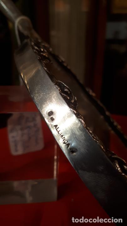 Antigüedades: Espejo de plata. - Foto 4 - 219449121