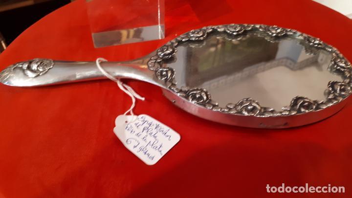 Antigüedades: Espejo de plata. - Foto 5 - 219449121