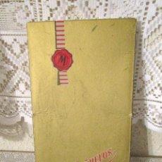 Antigüedades: ANTIGUA CAJA DE PAÑUELOS DE CABALLERO MARCA MURILLO, CON TRES PAÑUELOS BLANCOS. AÑOS 50-60. Lote 266815574