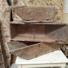 Antigüedades: LOTE DE TRES MEDIAS DE MEDIR EL TRIGO, DIFERENTES TAMAÑOS. FANEGA, MEDIA FANEGA. SIGLO XVIII.. Lote 219476741