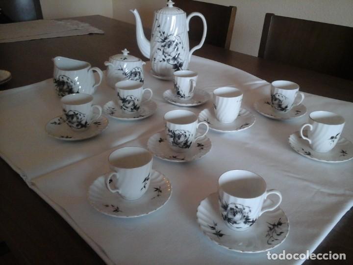 JUEGO DE CAFÉ DE PORCELANAS DE BIDASOA (Antigüedades - Porcelanas y Cerámicas - Otras)