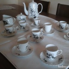 Antigüedades: JUEGO DE CAFÉ DE PORCELANAS DE BIDASOA. Lote 219496190