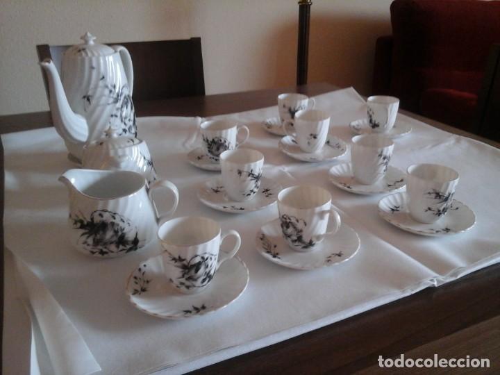 Antigüedades: JUEGO DE CAFÉ DE PORCELANAS DE BIDASOA - Foto 2 - 219496190