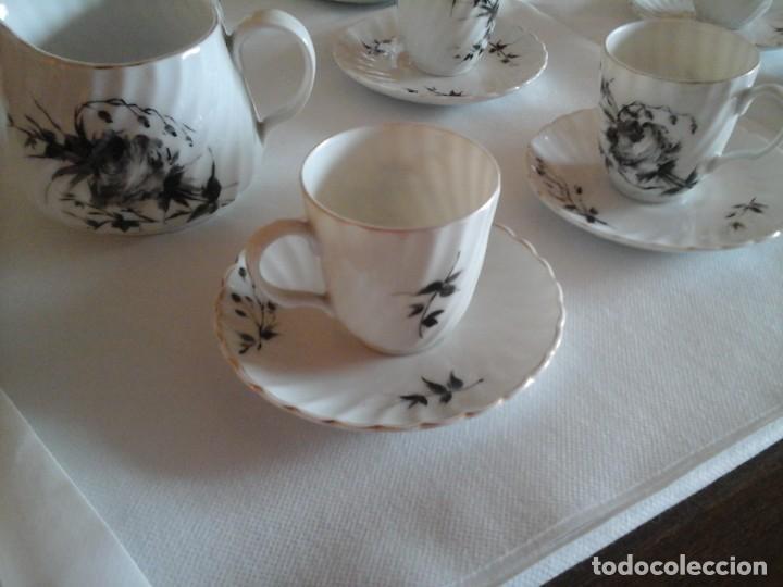 Antigüedades: JUEGO DE CAFÉ DE PORCELANAS DE BIDASOA - Foto 4 - 219496190