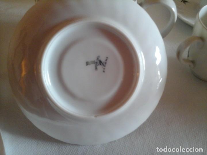 Antigüedades: JUEGO DE CAFÉ DE PORCELANAS DE BIDASOA - Foto 5 - 219496190