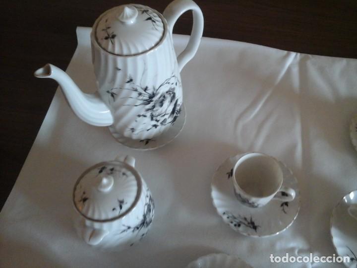 Antigüedades: JUEGO DE CAFÉ DE PORCELANAS DE BIDASOA - Foto 6 - 219496190
