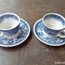 Antigüedades: BURGENLAND, SAAR. DOS TAZAS DE CAFÉ CON SUS PLATOS.. Lote 219499525