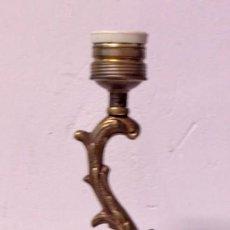 Antigüedades: ANTIGUO PIE DE LÁMPARA DE BRONCE. 31CM DE ALTURA. Lote 219507948