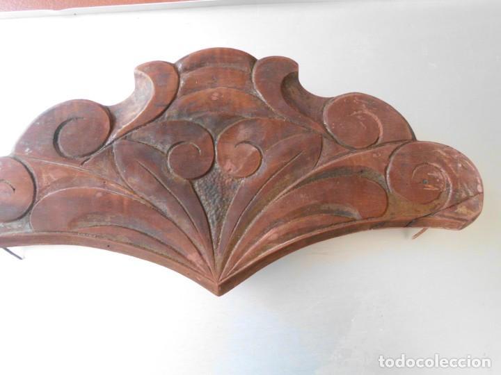 COPETE DE MADERA MODERNISTA PARA CAMA (Antigüedades - Muebles Antiguos - Camas Antiguas)