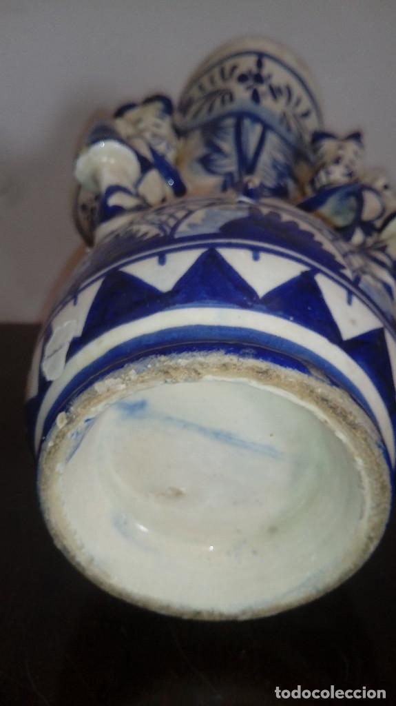 Antigüedades: jarron pp del 1900 ceramica de andujar jaen jarra de estudiante muy bonito 30 cms bien cuidado - Foto 2 - 219571743